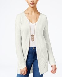 Hippie Rose Juniors' Open Front Cardigan Ivory