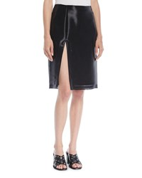 Helmut Lang Shayne Oliver Split Knee Length Skirt Black