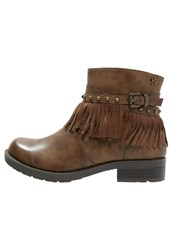 Refresh Cowboy Biker Boots Taupe Brown