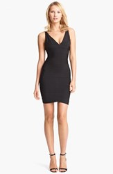 Women's Herve Leger V Neck Bandage Dress Black