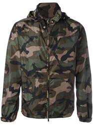 Valentino Camouflage Jacket Green