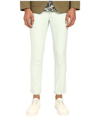 Marc Jacobs Matte And Shiny Suiting Pants Mint