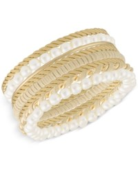 Inc International Concepts Robert Rose For Gold Tone 8 Pc. Set Bangle Bracelets Only At Macy's