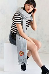 Urban Outfitters Icon Scarf Grey