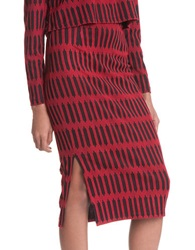 Plenty By Tracy Reese Striped Jersey Skirt Merging String