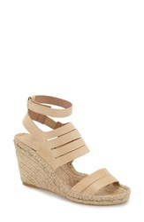 Women's Charles David 'Ona' Wedge Sandal Natural Leather