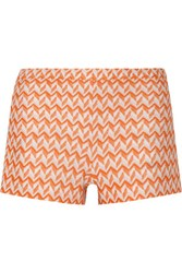 Missoni Crochet Knit Shorts Orange