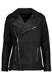 Rta Chrisophe Zip Embellished Leather Biker Jacket Black
