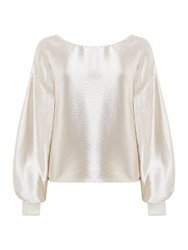 Linea Derry Metallic Bow Back Top Gold