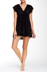 Robin Piccone Danielle V Neck Tunic Cover Up Black