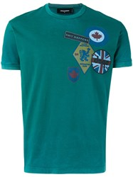 Dsquared2 Slogan T Shirt Green