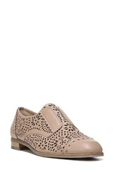 Via Spiga Women's Eliza Perforated Derby Blush Leather