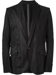 Isaac Sellam Experience Leather Blazer Black