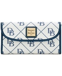 Dooney And Bourke Signature Continental Wallet Created For Macy's White Marine