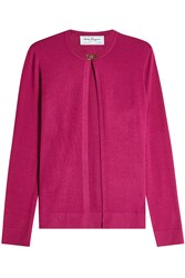 Salvatore Ferragamo Virgin Wool Cardigan With Silk