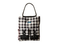Kavu Scout Tote Bw Plaid Tote Handbags Black
