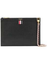 Thom Browne Small Black Pebbled Pouch
