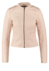 Noisy May Nmmacy Faux Leather Jacket Pearl Blush Rose