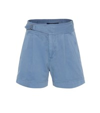 Polo Ralph Lauren High Rise Cotton Twill Shorts Blue