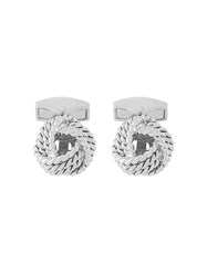 Tateossian Cable Knot Cufflinks Metallic