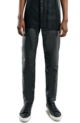 Men's Topman 'Aaa Collection' Leather Biker Pants