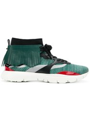 Valentino Garavani Heroes Embroidered Sneakers Green