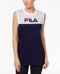 Fila Lucia Cotton Oversized Tank Top Peacoat White