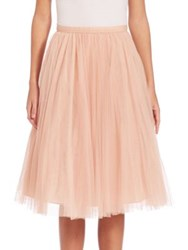 Jenny Yoo Lucy Tulle Midi Skirt Cameo Pink Spearmint