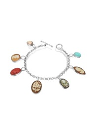 Mia And Beverly Cameo Charm Bracelet Multicolor