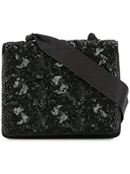 Chanel Vintage Spangle Beads Cross Body Shoulder Bag Black