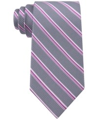 Michael Kors Men's Houndstooth Stripe Tie Pink