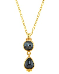 Gurhan One Of A Kind 24K Black Diamond Empress Pendant Necklace Black Red Gold