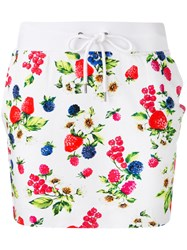 Love Moschino Floral Skirt White