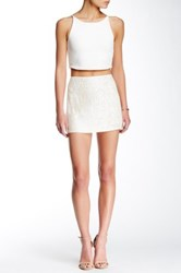 Mlv Justin Sequin Mini Skirt White