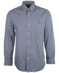 Antigua Men's Long Sleeve Kentucky Wildcats Button Down Shirt Royalblue