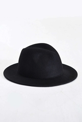 Rosin Wide Brim Felt Fedora Black