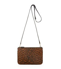 Sandro Addict Leopard Print Bag Female Brown