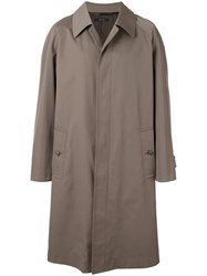 Tom Ford Single Breasted Coat Green
