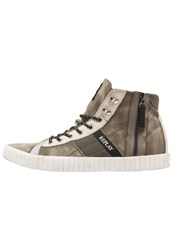 Replay Room Hightop Trainers Military Green Dark Green