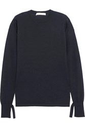 Dion Lee Cutout Cashmere Sweater Navy