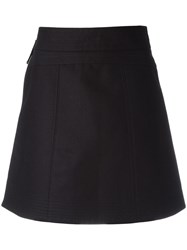 Diesel Black Gold Side Zip A Line Skirt Black