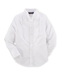 Ralph Lauren Childrenswear Long Sleeve Cotton Tuxedo Shirt White Size 2 6X
