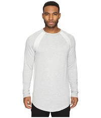 Publish Dylan Premium Terry Raglan Long Sleeve Heather Men's Long Sleeve Pullover Gray