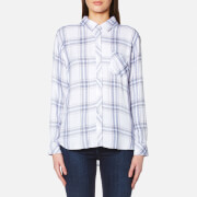Rails Women's Hunter Check Shirt White Blush Patriot Multi