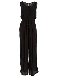 Max Studio Sleeveless Relaxed Jumpsuit Black
