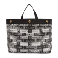Balmain Black And White Shopper Tote