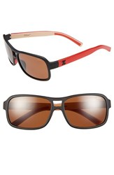 Women's Zeal Optics 'Tofino' 57Mm Polarized Plant Based Sunglasses Tofino Cafe Black Red