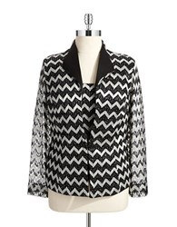 Cachet Plus Metallic Jacket Set Black Silver