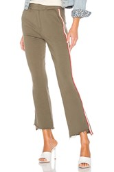 Mother The Lounger Insider Sweatpant Olive