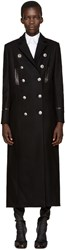 Versus Black Wool Long Coat
